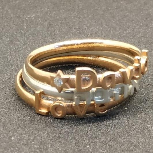 טבעת יהלום שמאל